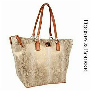 Dooney Snakeskin O- Ring Shopper